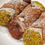 cannoli with chocolate and pistachios